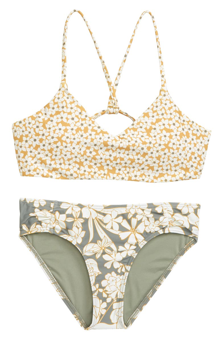 O'NEILL Embry Bralette Two-Piece Swimsuit, Main, color, FOG