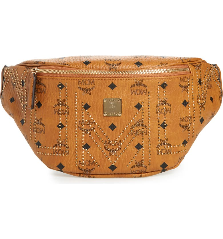 Mcm Stark Studded Print Belt Bag Nordstrom