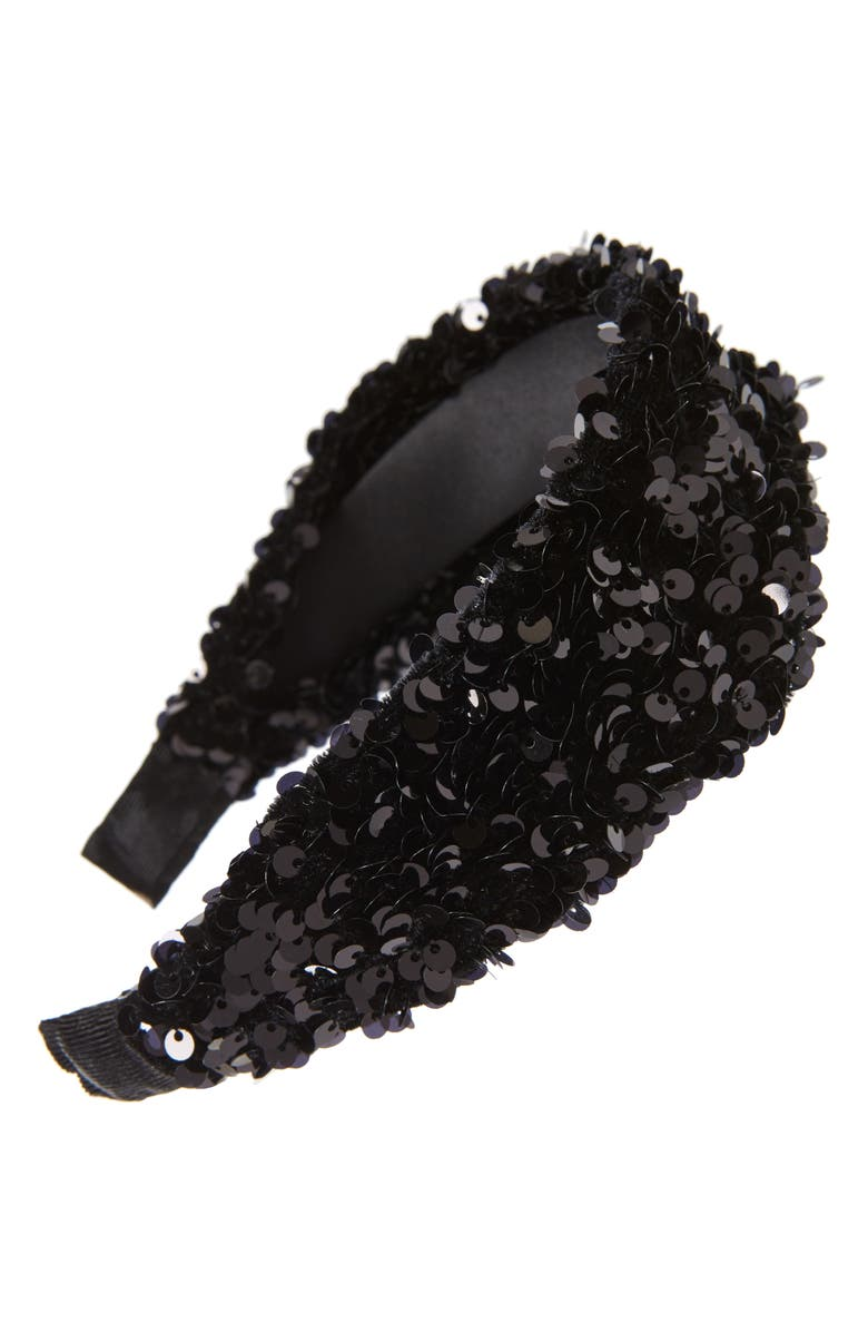 BP. Sequin Headband, Main, color, BLACK