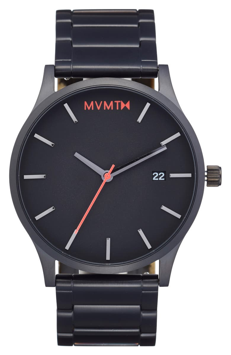 MVMT Bracelet Watch, 45mm, Main, color, BLACK