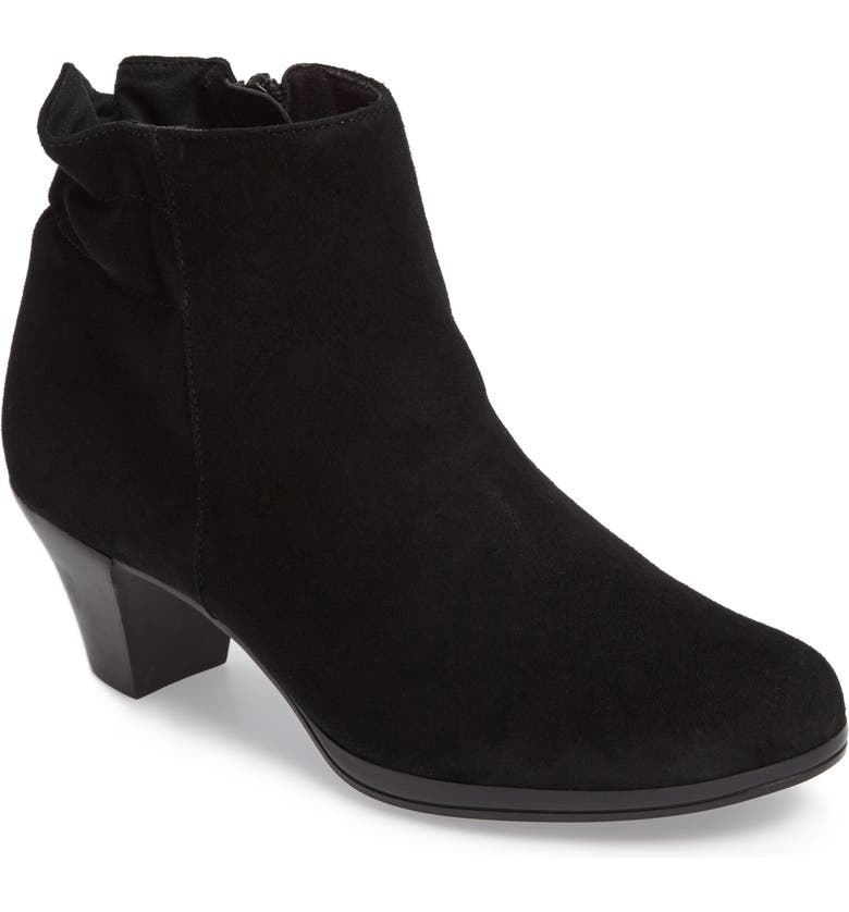 MUNRO Alfie Bootie, Main, color, BLACK SUEDE
