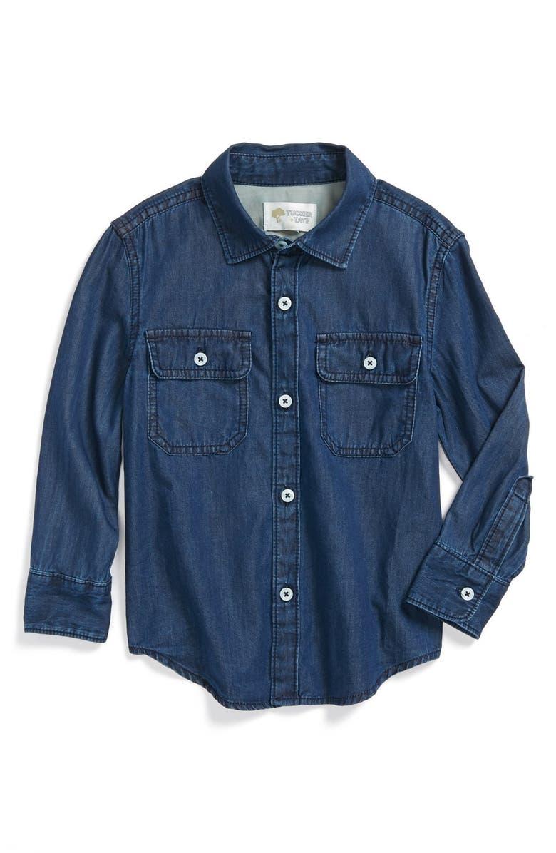 TUCKER + TATE 'Anker' Denim Shirt, Main, color, 401