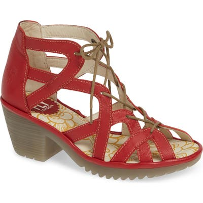 Fly London Want Sandal, Red