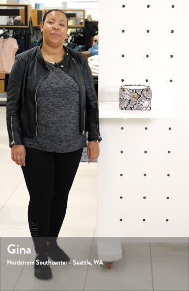 Kensington X Snake Embossed Leather Shoulder Bag, sales video thumbnail