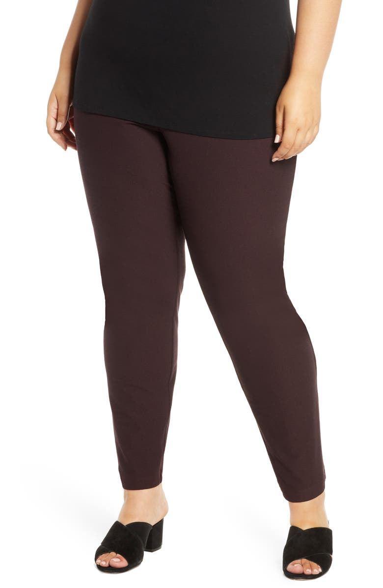 EILEEN FISHER Slim Ankle Pants, Main, color, CASSIS