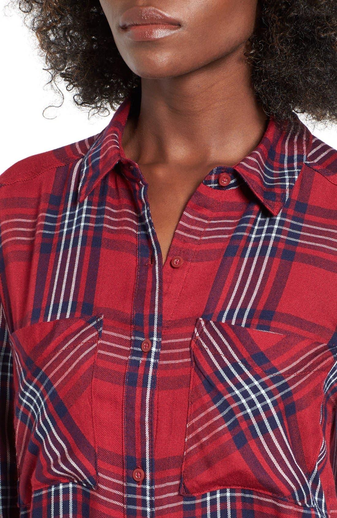 ,                             Plaid Tunic Shirt,                             Alternate thumbnail 34, color,                             601