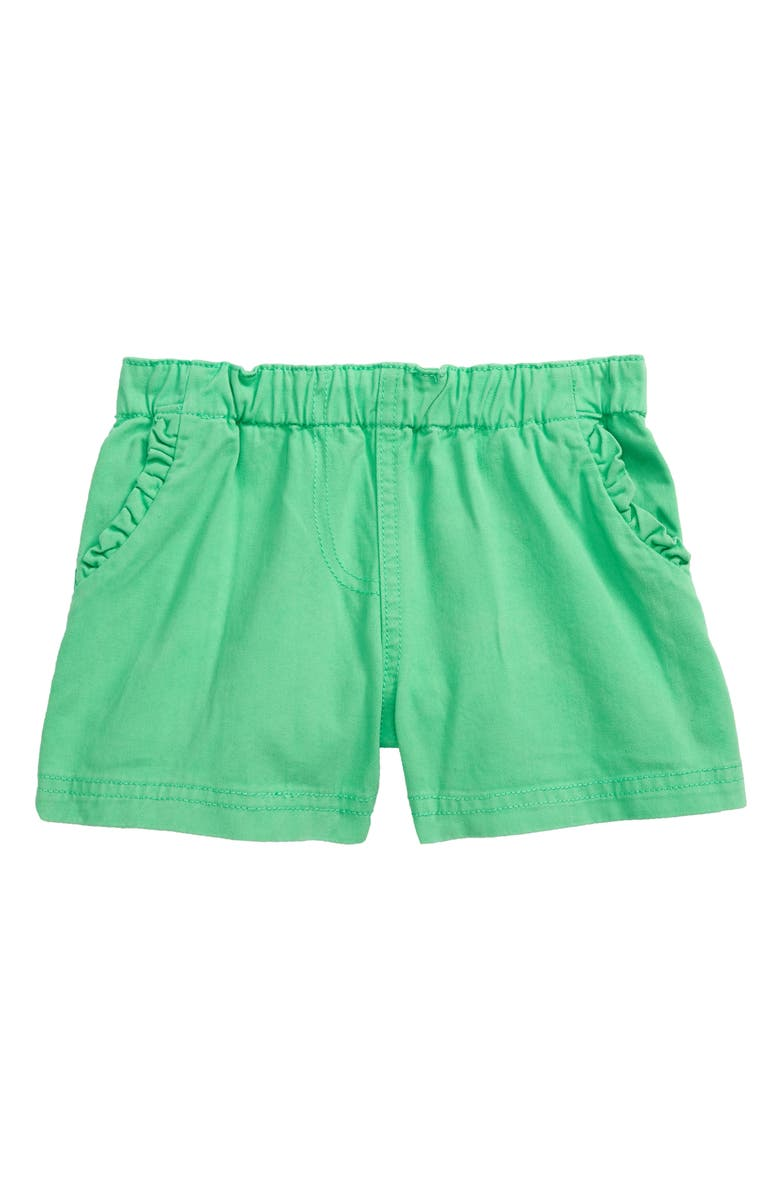 MINI BODEN Ruffle Pocket Twill Shorts, Main, color, 315