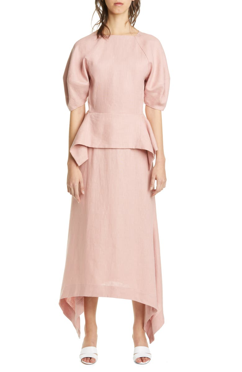 CULT GAIA Maya Open Back Linen Dress, Main, color, DSP DUSTY PINK
