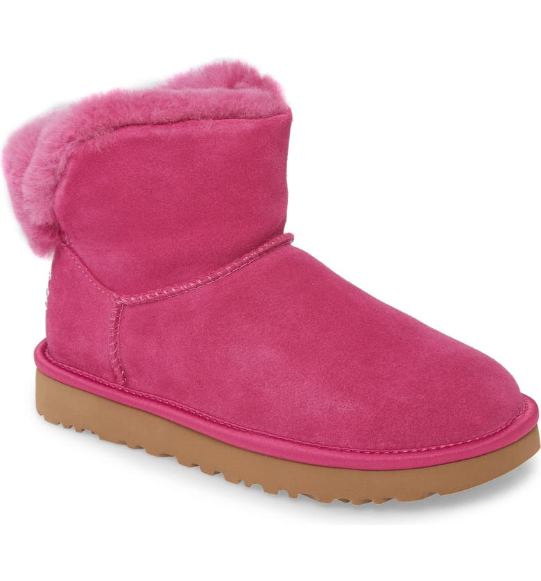 UGG<SUP>®</SUP> Classic Bling Mini Bootie, Main, color, FUCHSIA