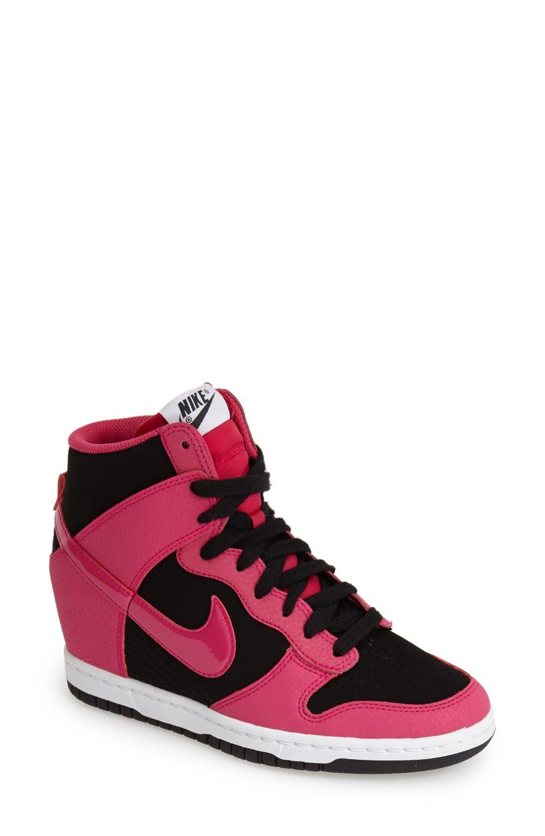 ,                             'Dunk Sky Hi - Essential' Wedge Sneaker,                             Main thumbnail 19, color,                             010