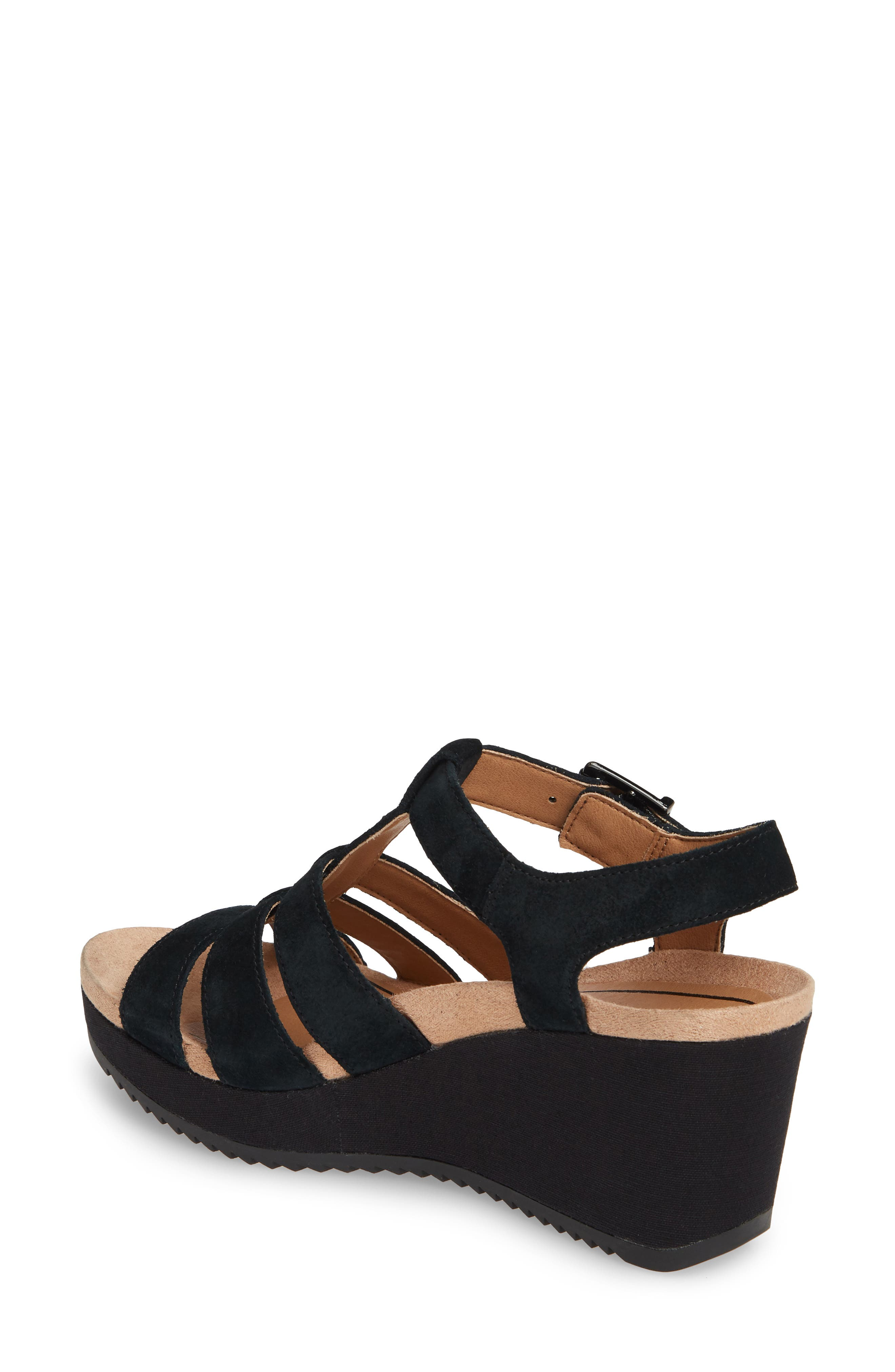 ,                             Tawny Wedge Sandal,                             Alternate thumbnail 2, color,                             BLACK CANVAS