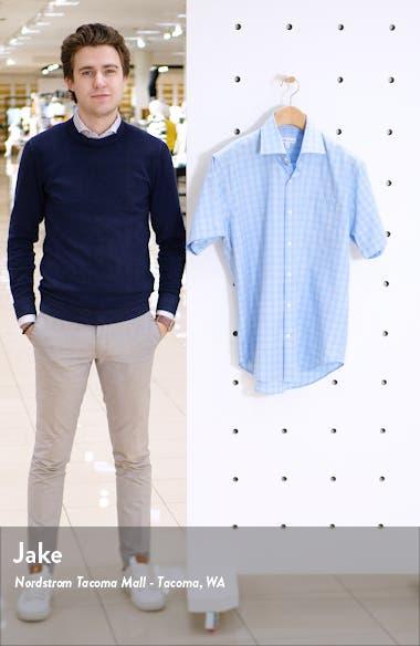 Clapton Regular Fit Plaid Short Sleeve Button-Up Shirt, sales video thumbnail