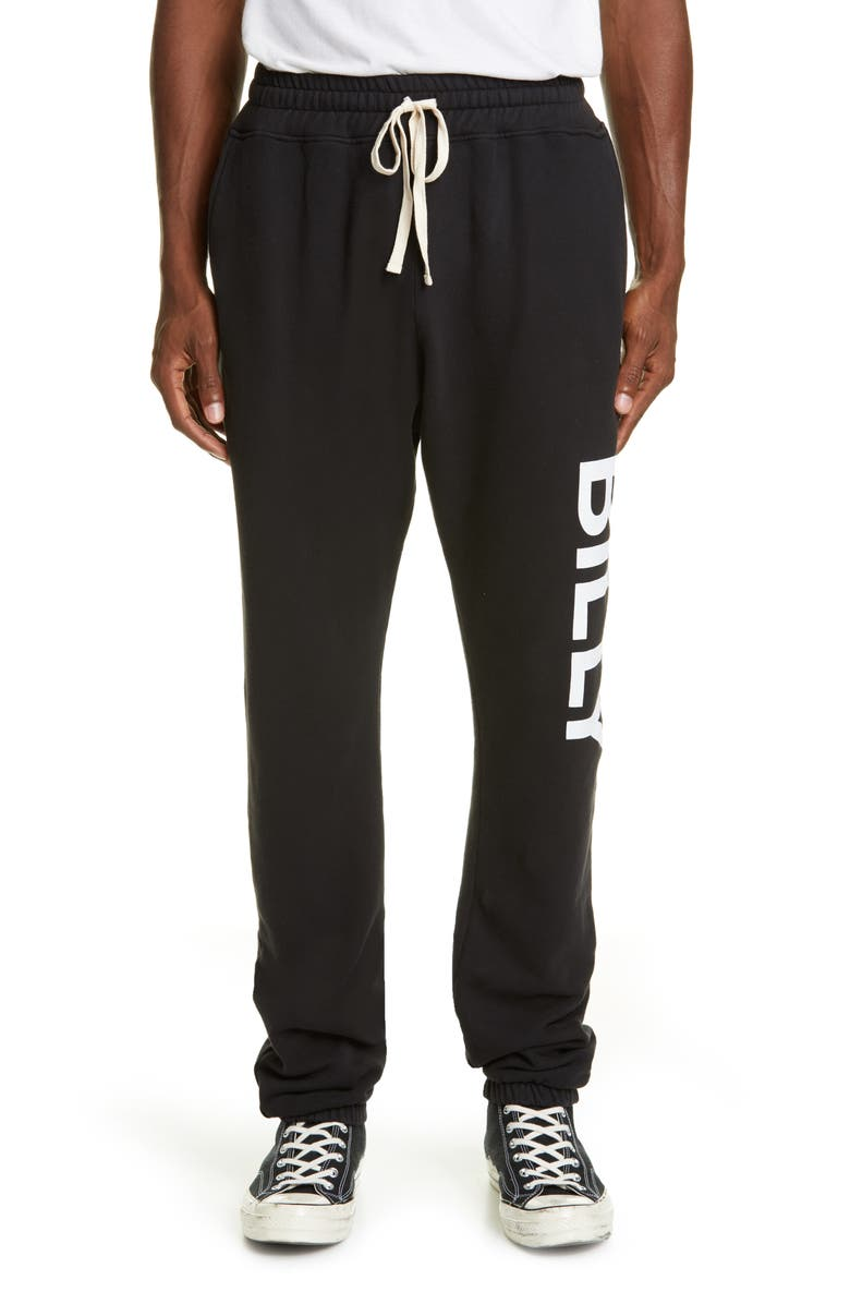 BILLY LOS ANGELES Logo Cloud Sweatpants, Main, color, 001