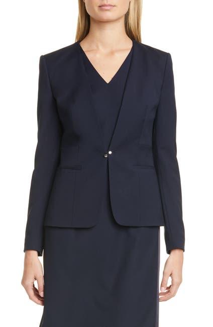 Image of BOSS Jaflinka V-Neck Suit Jacket
