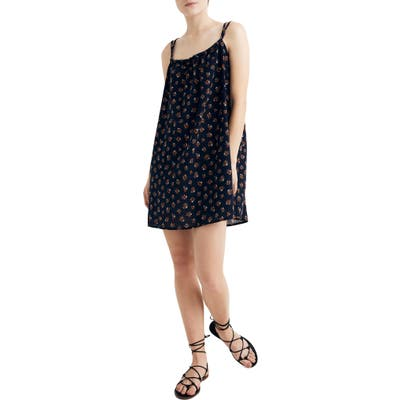 Madewell Tie-Back Cover-Up Minidress, Blue