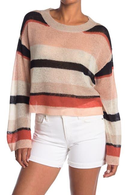 Image of WILDFOX Phoebe Sahara Stripe Drop Shoulder Pullover