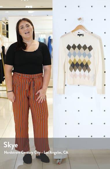 Diamond Pattern Linen Blend Sweater, sales video thumbnail