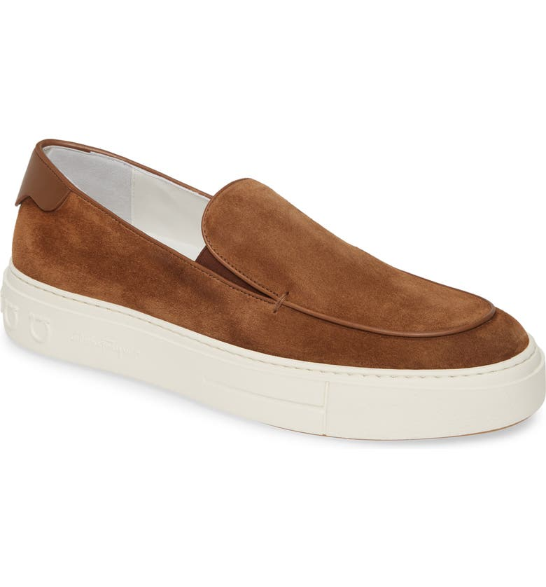 SALVATORE FERRAGAMO Tokyo Slip-On, Main, color, BROWN SUGAR
