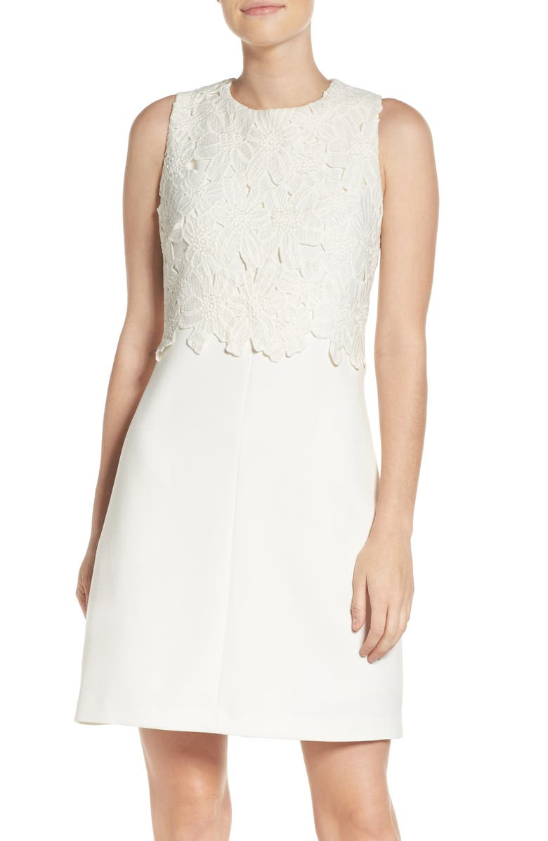 Vince Camuto Lace Popover Shift Dress Nordstrom