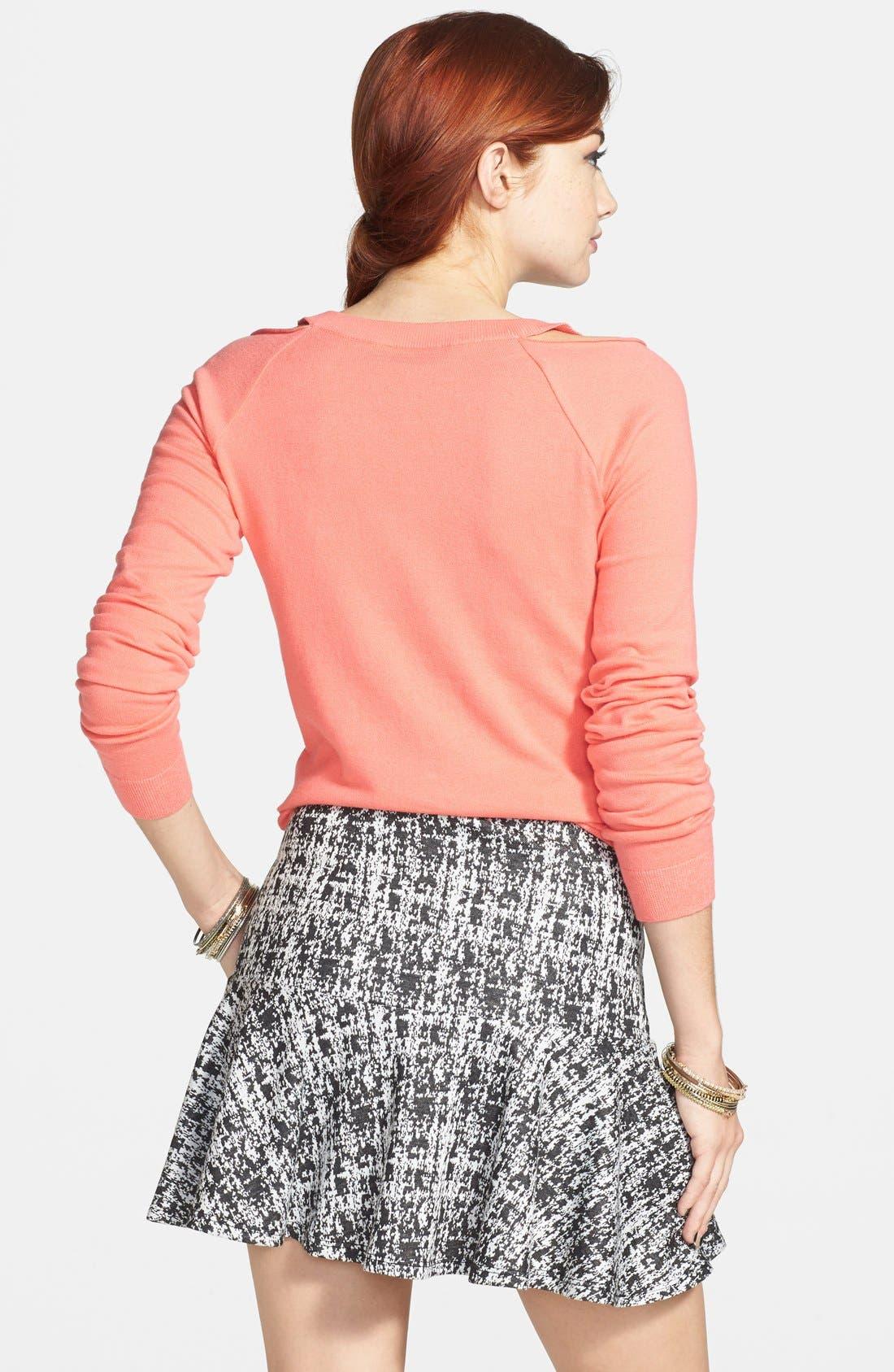 ,                             Ruffle Peplum Skirt,                             Alternate thumbnail 2, color,                             001