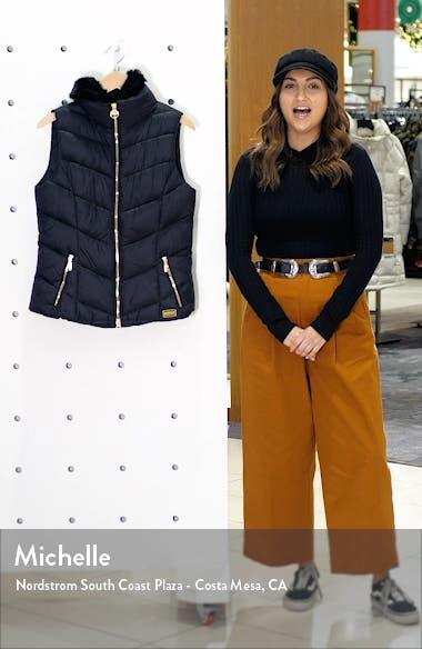 B.INTL Nurburg Gilet with Faux Fur Collar, sales video thumbnail