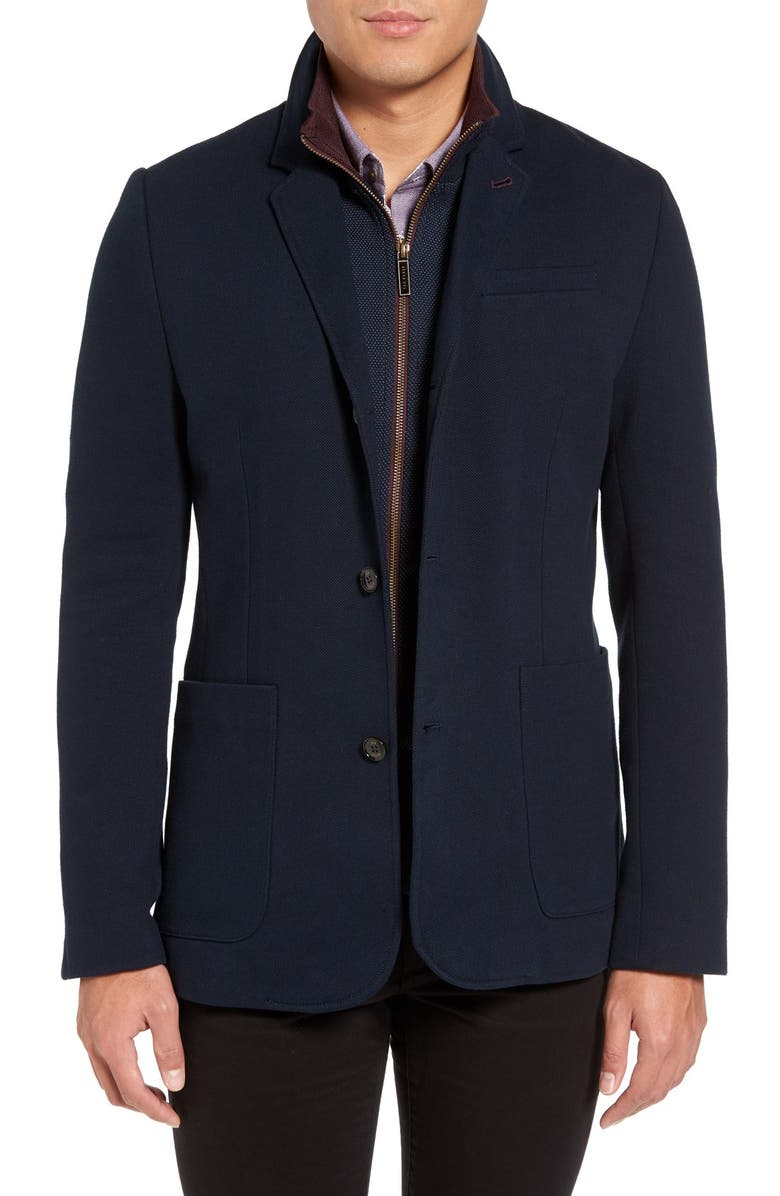 Ted Baker London Armand Blazer Style Jacket With Inset Bib