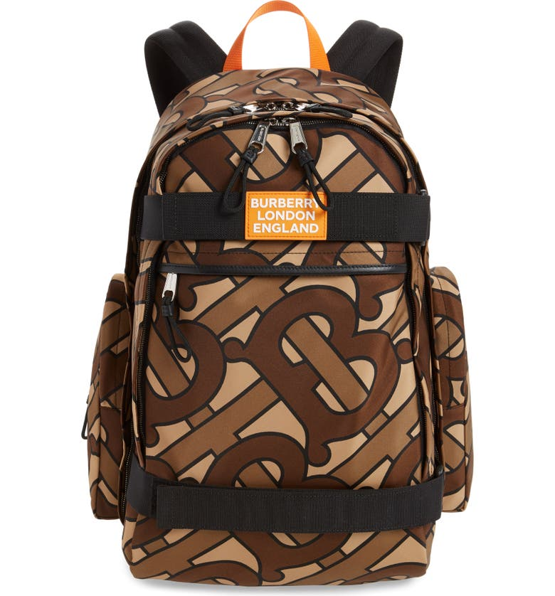 BURBERRY Cooper Backpack, Main, color, BRIDLE BROWN