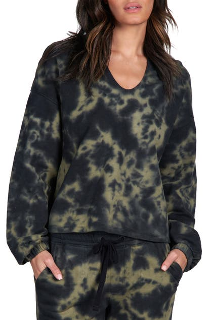 Sanctuary Cottons PERFECT TIE DYE SPLIT NECK SWEATSHIRT