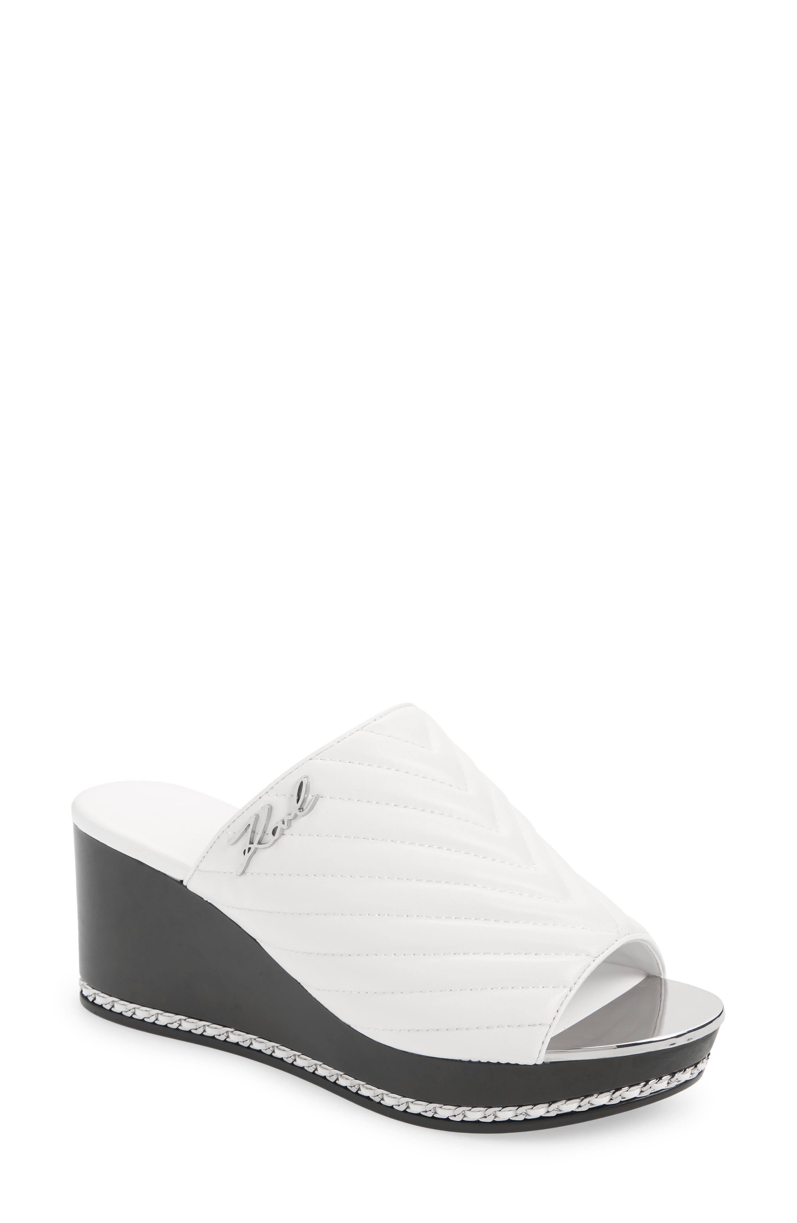 Leni Quilted Wedge Slide Sandal