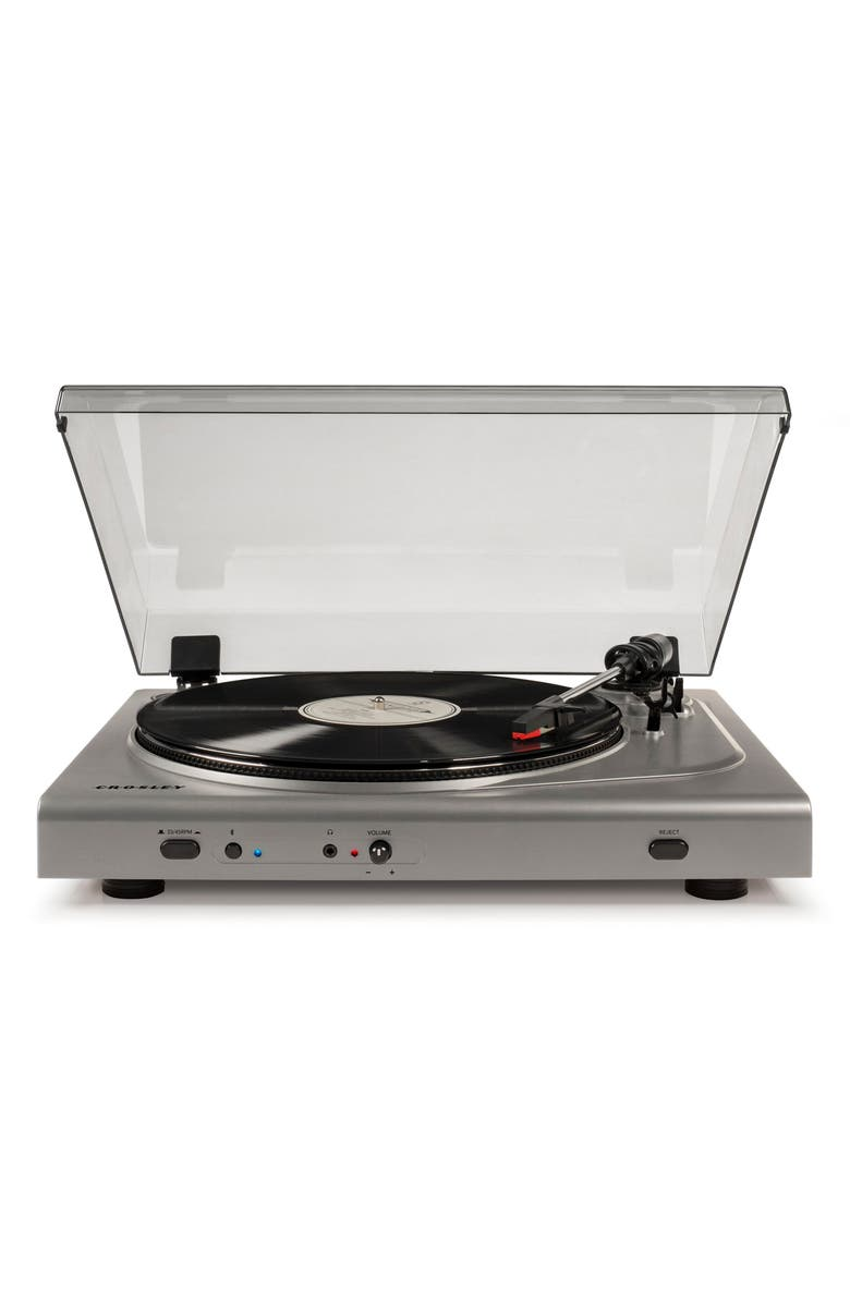 CROSLEY RADIO T300A Bluetooth Turntable, Main, color, SILVER