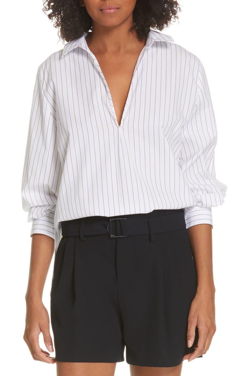 VINCE Bar Stripe Shirt, Main, color, 137