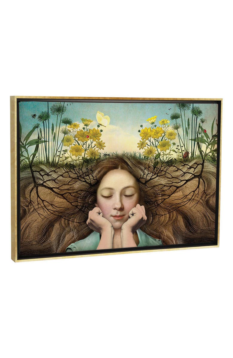 ICANVAS Listen by Catrin Welz-Stein Giclée Print Canvas Art, Main, color, GREEN