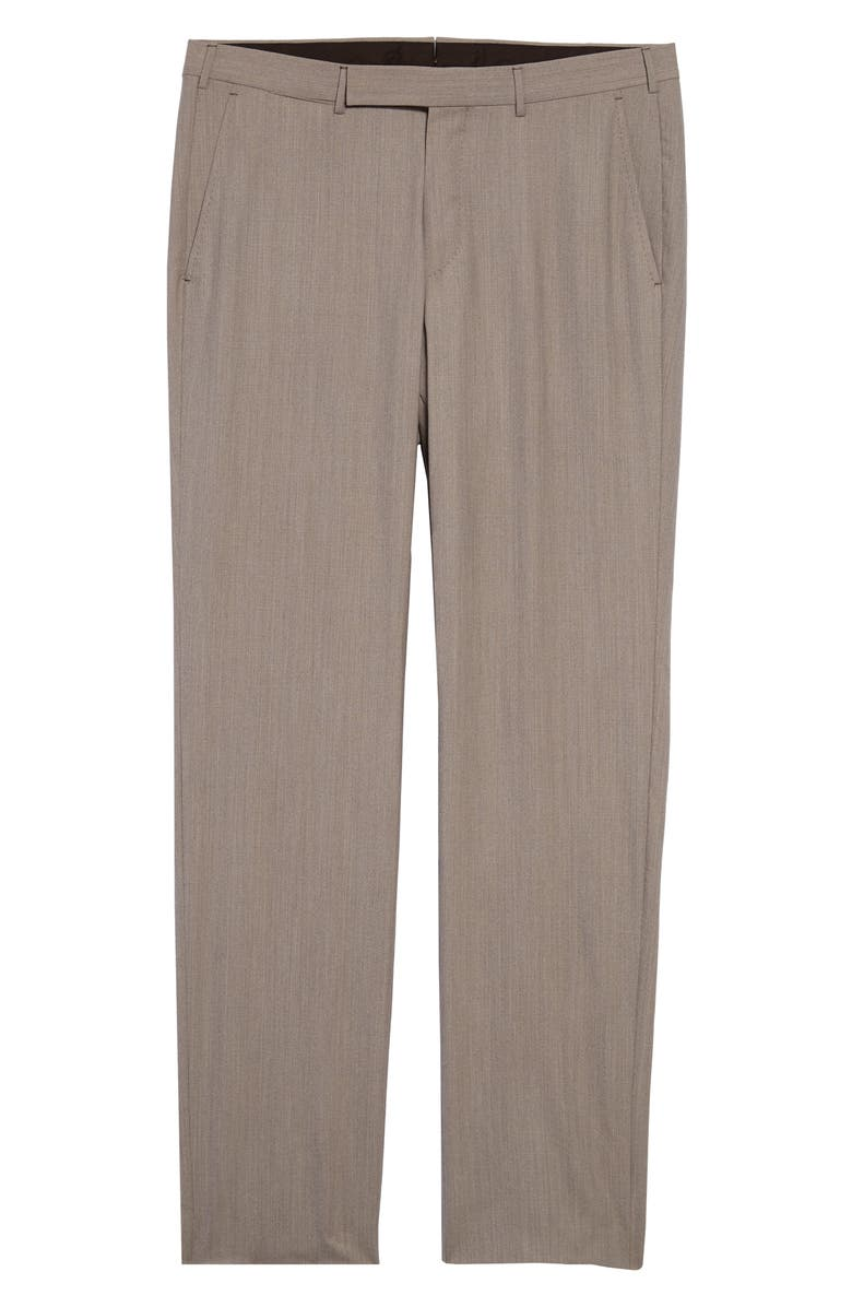 ERMENEGILDO ZEGNA High Performance Wool Blend Trousers, Main, color, TAN