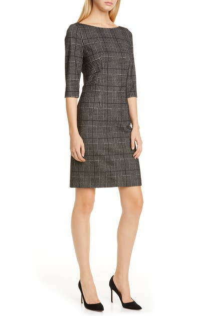 Boss Dresses DOKOS HOUNDSTOOTH CHECK DRESS