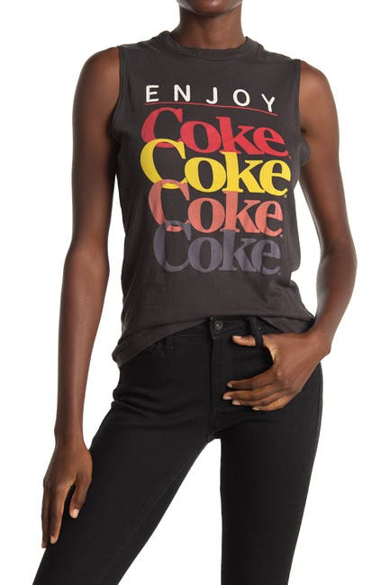 Image of Chaser Coke Graphic Print Tank Top