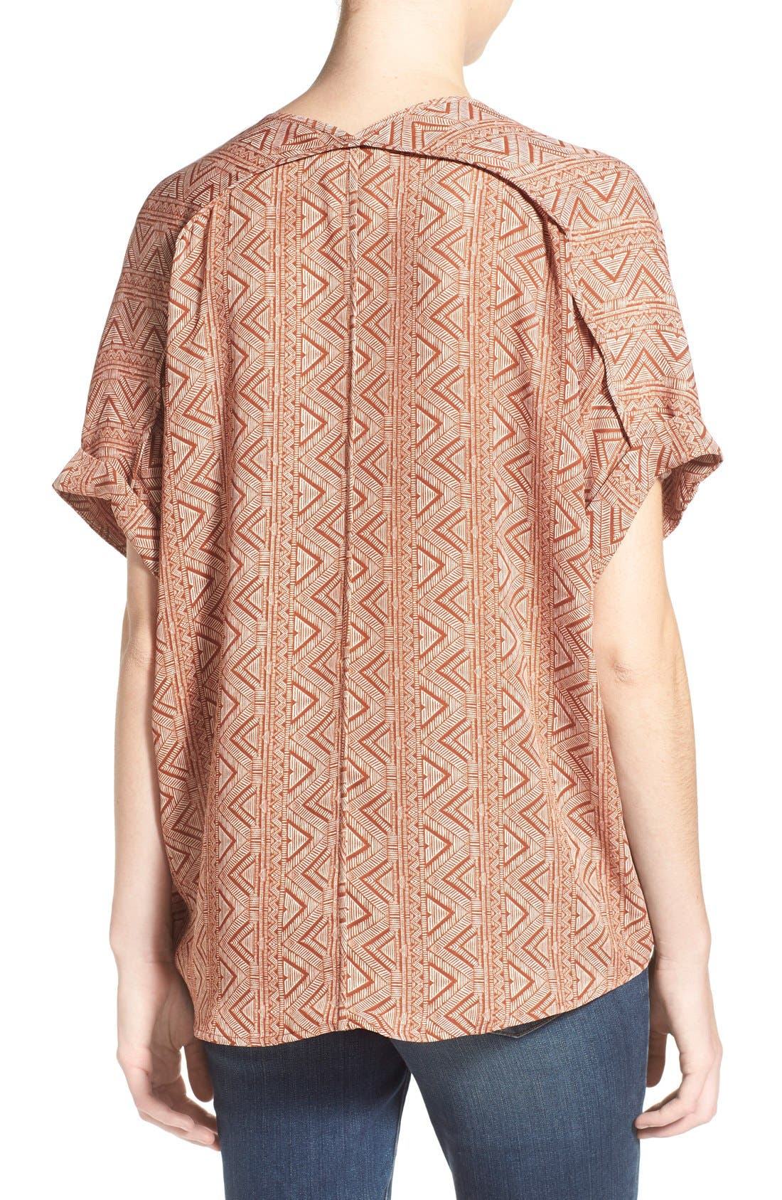 ,                             Lush Cuff Sleeve Woven Tee,                             Alternate thumbnail 154, color,                             630
