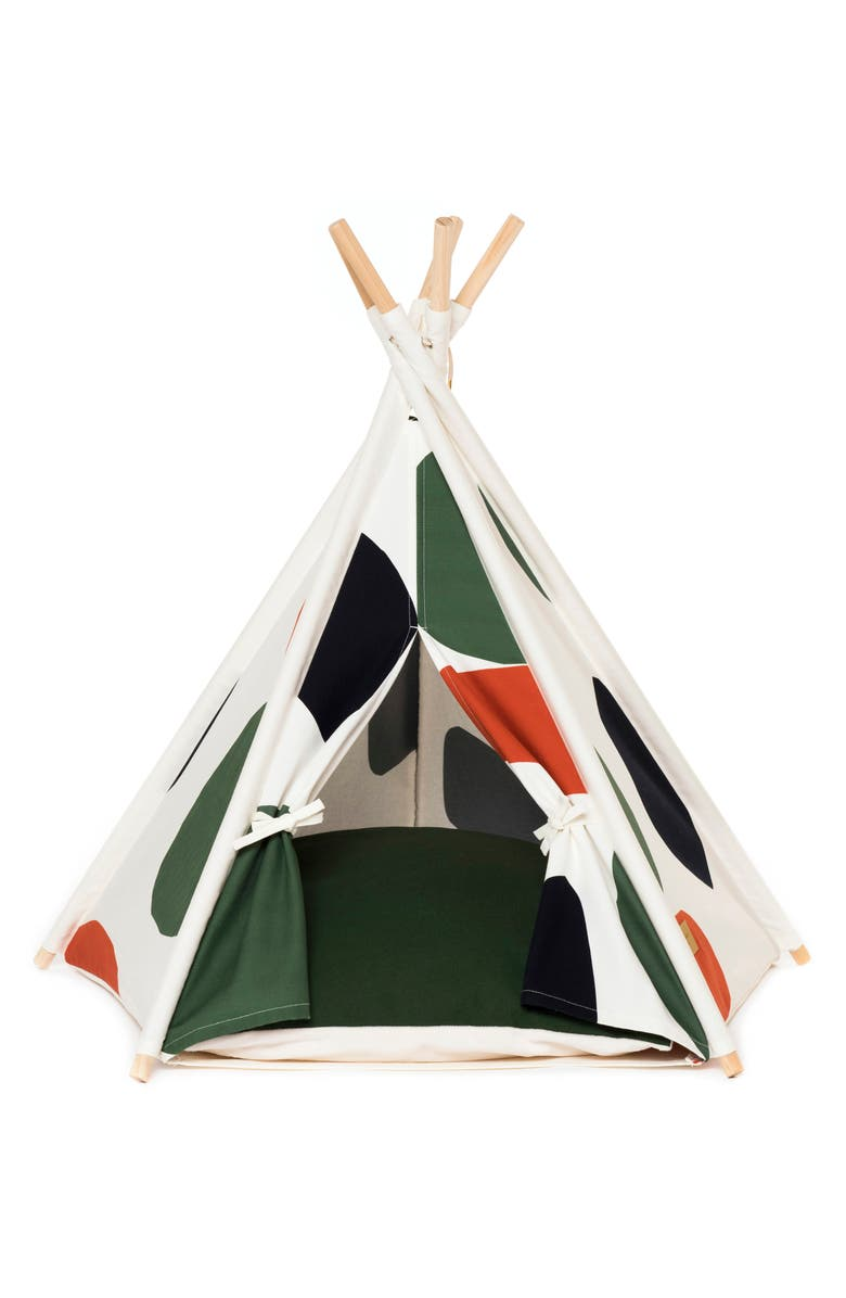 HUTS AND BAY Pet Teepee Tent, Main, color, CAMO