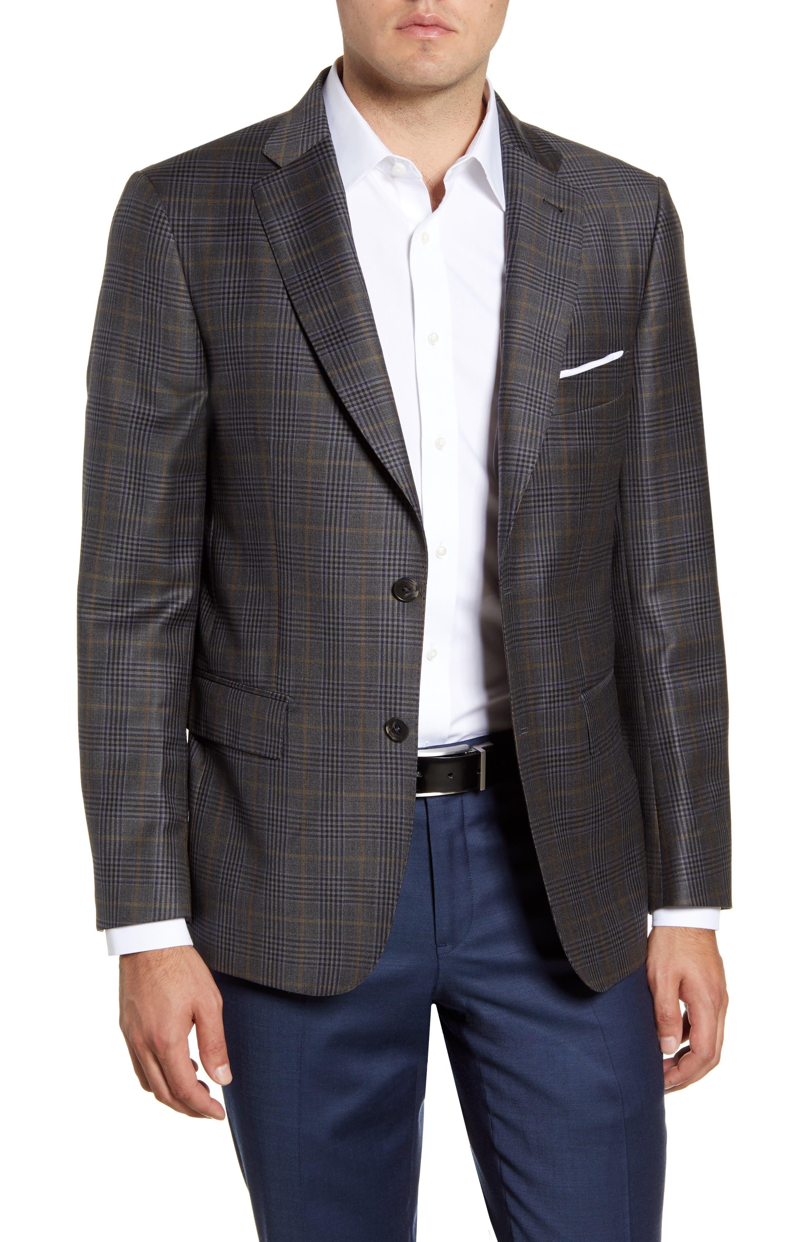 Image of John W. Nordstrom Regular Fit Plaid Wool Sport Coat