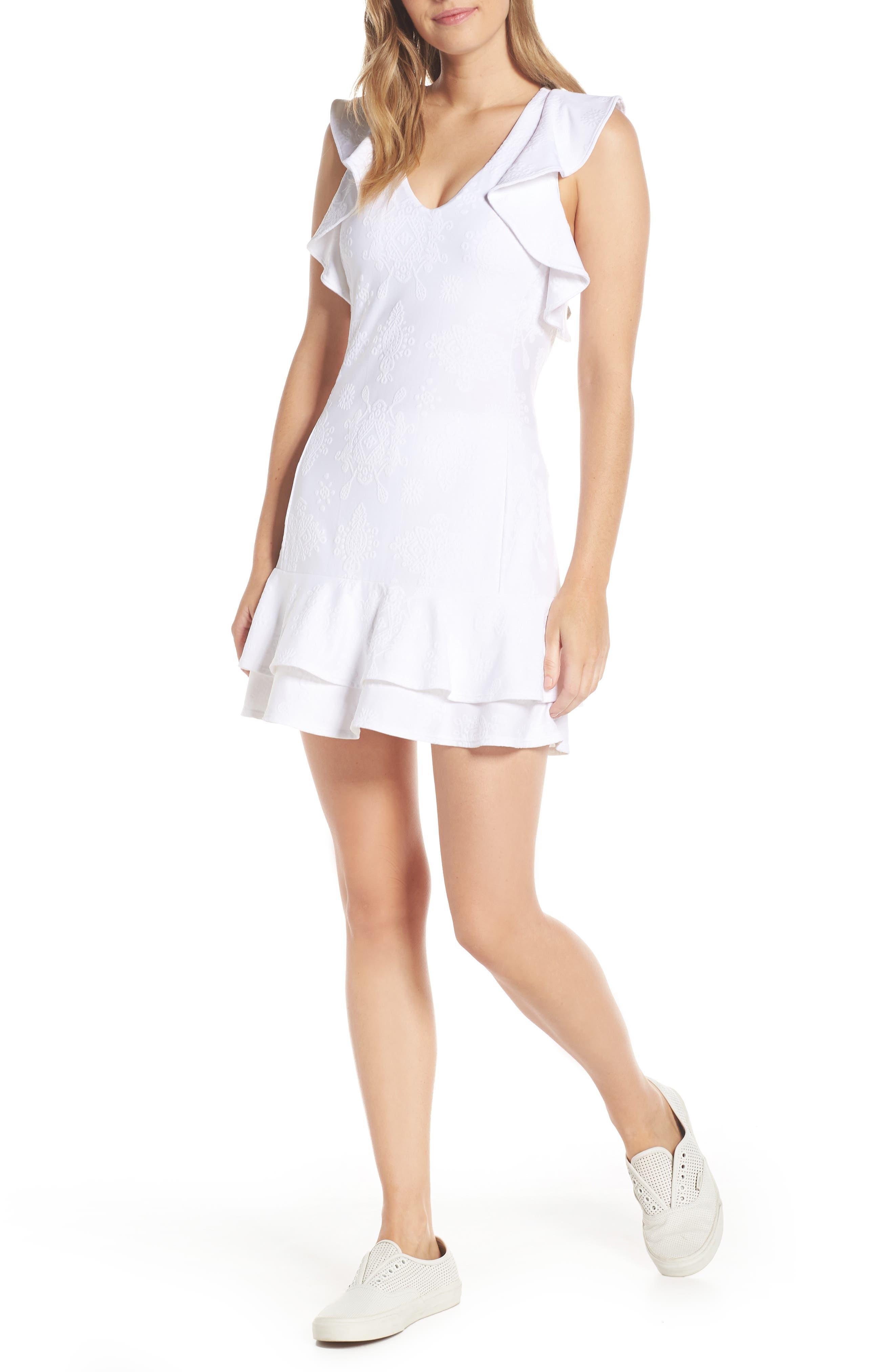 Lilly Pulitzer Luxletic - Rally Upf 50+ Ruffle Tennis Dress, White