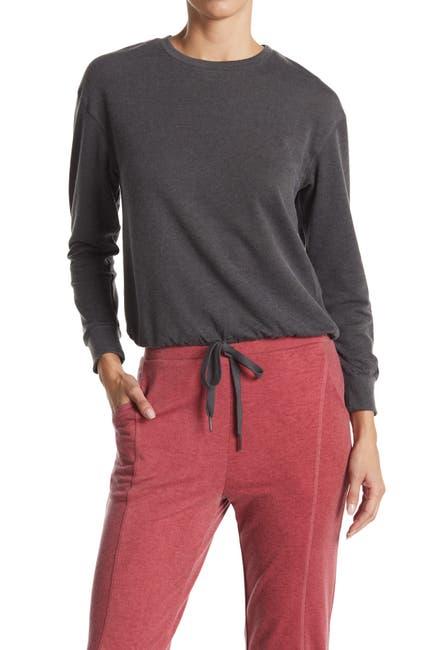 Image of WHITE WILLOW Drawstring Hem Pullover Sweatshirt
