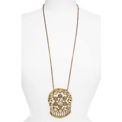 Saint Laurent Charmed Talisman Long Pendant Necklace