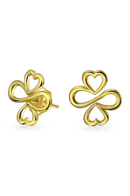 Image of Bling Jewelry Gold Plated Sterling Silver Come Together Stud Earrings