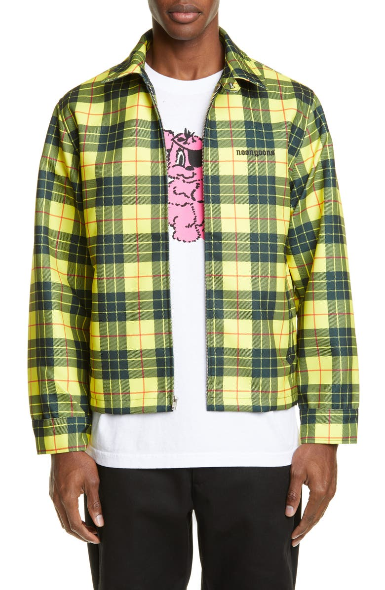 NOON GOONS Singled Out Jacket, Main, color, TARTAN YELLOW