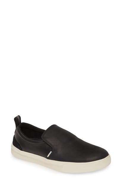 Toms Trvl Lite Slip-On Sneaker In Black Leather