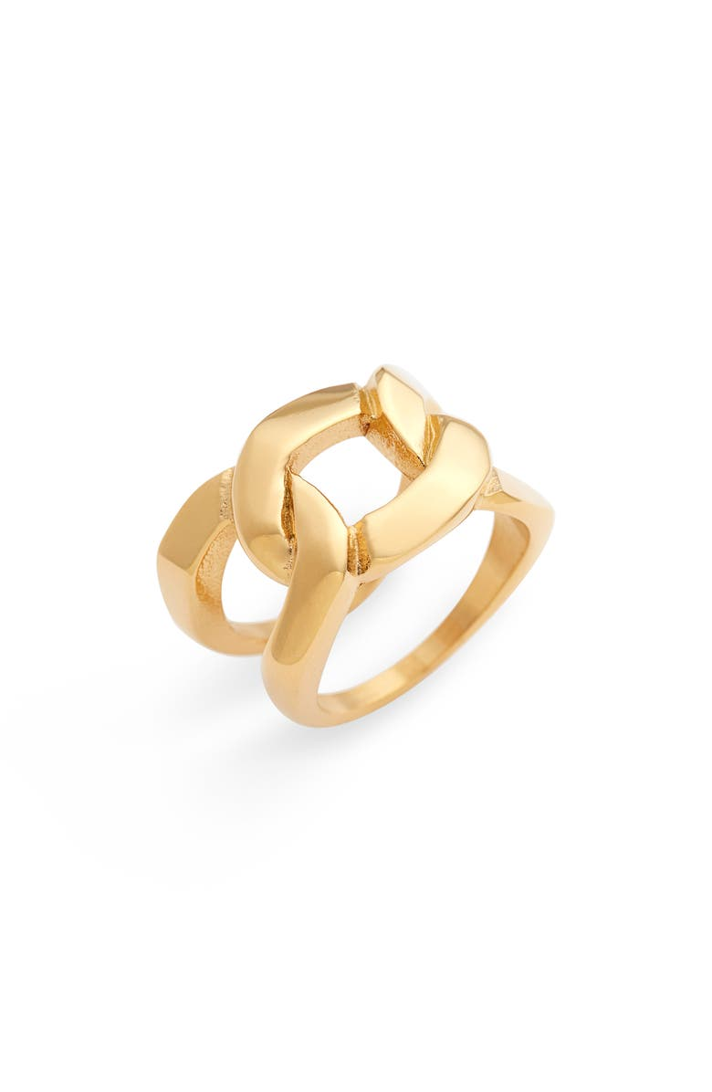 ELLIE VAIL Brooklyn Chain Ring, Main, color, GOLD