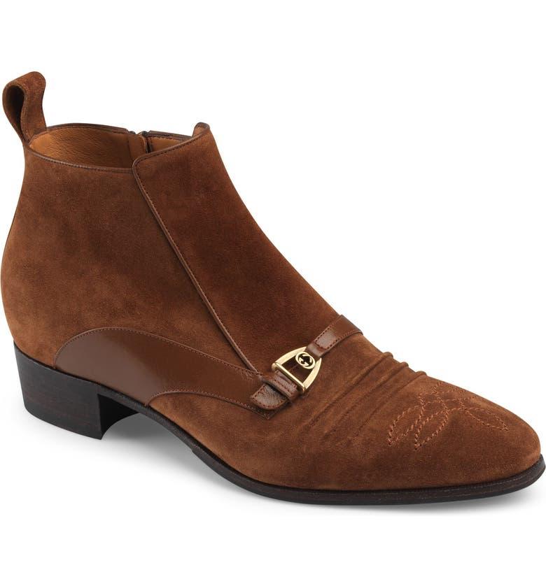GUCCI Moloch Boot, Main, color, BROWN