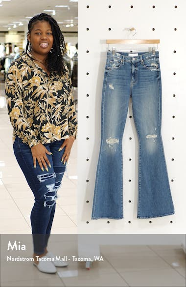 The Super Cruiser Ripped High Waist Flare Jeans, sales video thumbnail
