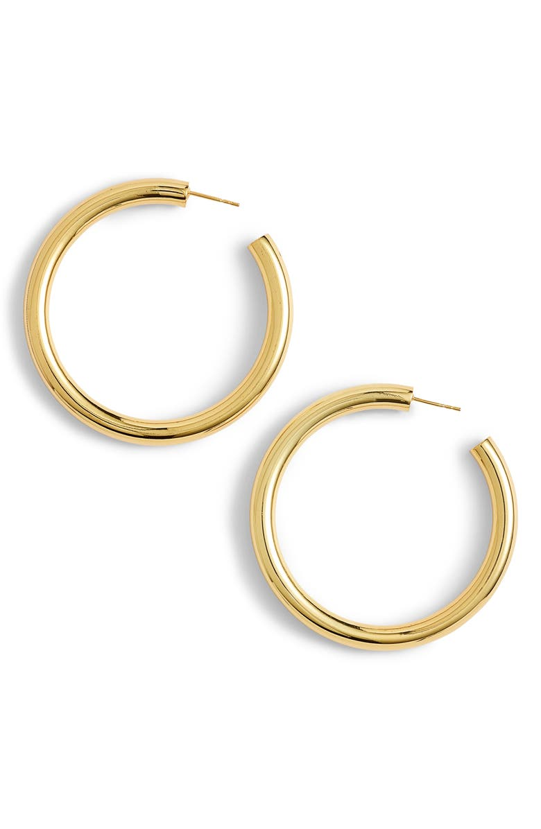 ARGENTO VIVO Hollow Hoop Earrings, Main, color, GOLD