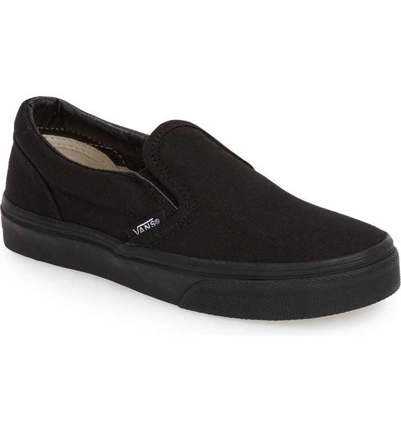 VANS 'Classic' Slip-On, Main, color, BLACK/ BLACK