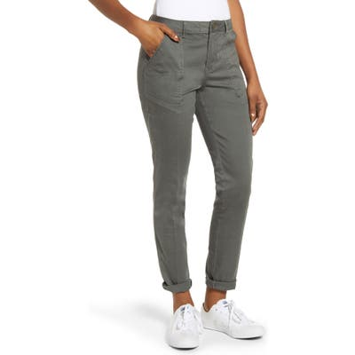 Wit & Wisdom Flex-Ellent High Waist Cargo Pants, Green (Nordstrom Exclusive)